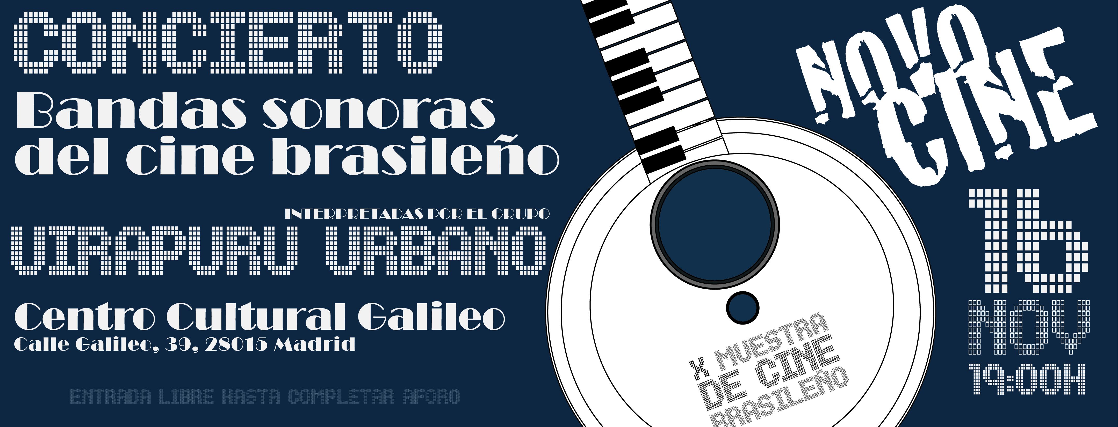"""16 de noviembre: Concierto """"Bandas sonoras del cine brasileño"""" en NOVOCINE"""