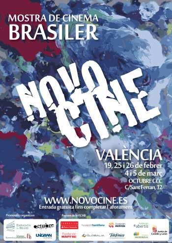 Cartel Novocine itinerante en Valencia 2019